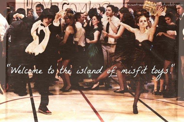 "The Abstract Butterfly's Sanctuary: Friday Night of Quotes: Misfits, Kids & Love => ""Welcome to the island of the misfit toys.""- The Perks of Being a Wallflower (Movie)"