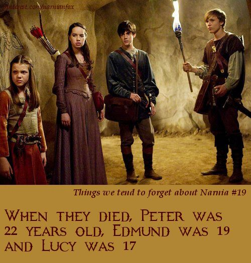 Narnia facts. People, myself included, always forget how young they died.