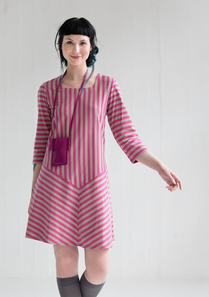 Striped dress in eco-cotton – Skirts & dresses – GUDRUN SJÖDÉN – Webshop, mail order and boutiques | Colorful clothes and home textiles in natural materials.