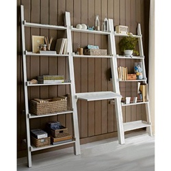 @Overstock - This unique leaning ladder book shelf has a beautiful white finish and is versatile and stylish. Providing you 13 tiers for storage or placement of decorative items, the desk helps keep you organized while giving you a convenient laptop desk.http://www.overstock.com/Home-Garden/3-piece-White-Leaning-Ladder-Book-Shelf-with-Laptop-Desk/4820902/product.html?CID=214117 $238.99