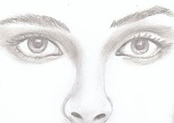 Drawing Nose Sketch | How to Draw a Girl Face
