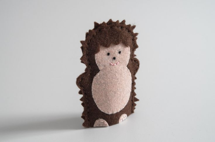 Hedgehog finger puppet  - hedgehogs, hedgehogs for sale, hedgehog pet, pet hedgehog, handmade gifts - by KinkinPuppets on Etsy
