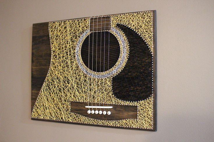 Handmade Guitar String Art