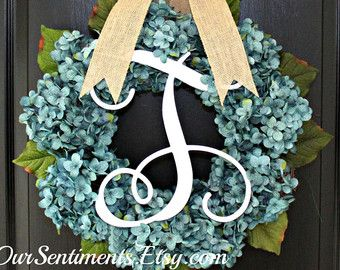Summer Wreath Chevron Burlap Wreath Etsy Wreath by OurSentiments