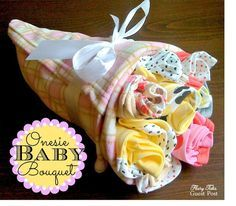 Tutorial for making a super-cute onesie baby bouquet!