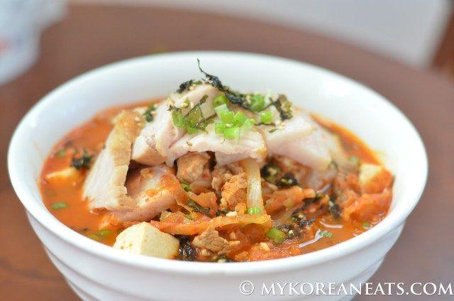 Kimchi Jjigae 돼지고기 김치찌개 (Spicy Kimchi Stew w Pork)