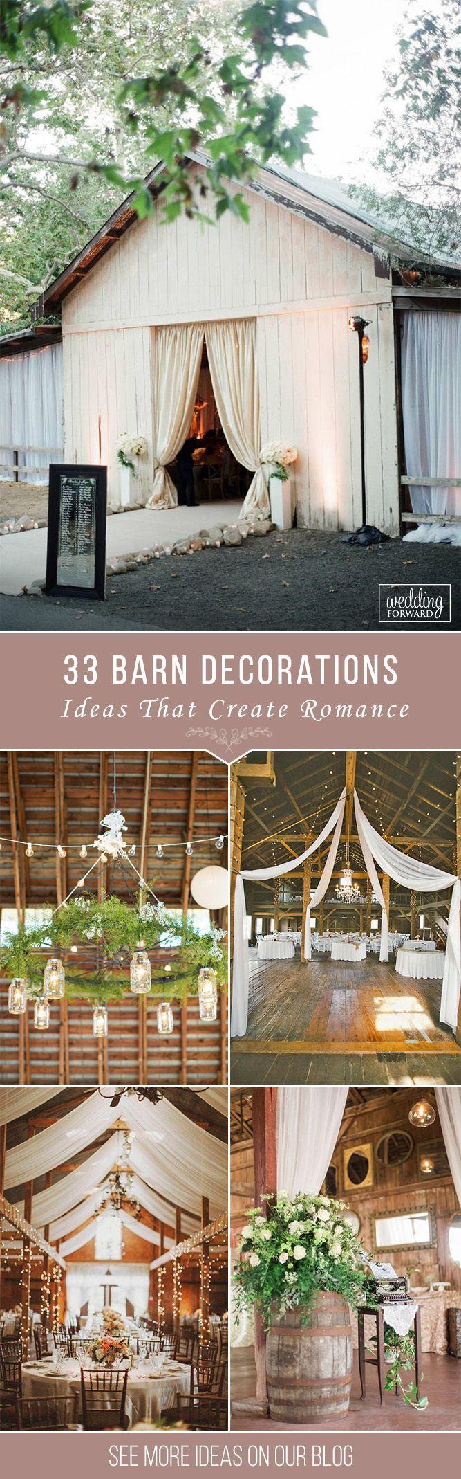 33 Romantic Barn Wedding Decorations ❤️ See more: http://www.weddingforward.com/barn-wedding-decorations/ #weddings #decorations