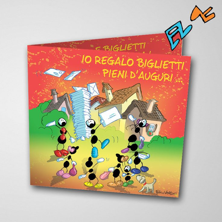Biglietto musicale Auguri (FV07-03) | Le Formiche di Fabio Vettori #formiche #fabiovettori #biglietto #auguri #musica #music #fun #regalo #gift