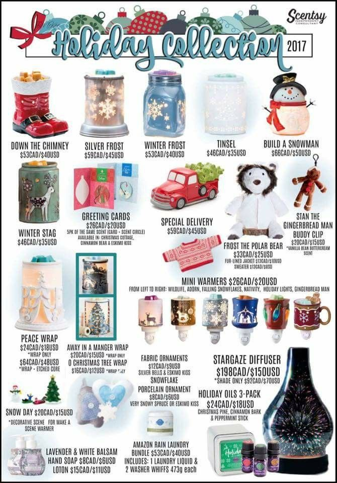 Scentsy 2017 holiday collection available 10/1 https://gingerkimpton.scentsy.us