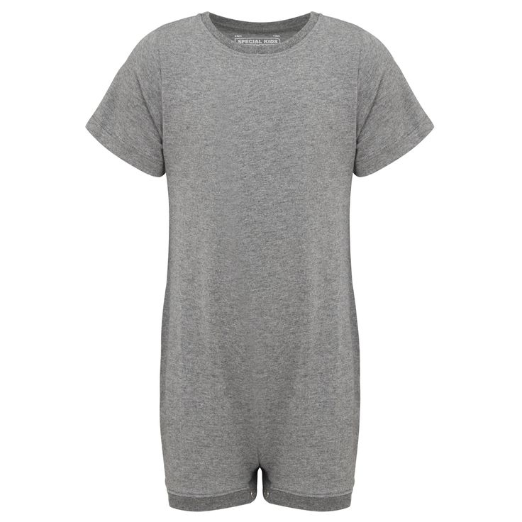 KayCey SUPER SOFT Bodysuit - Short Sleeve - GREY    http://specialkids.company/