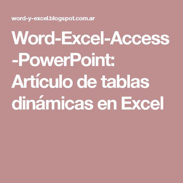 Word-Excel-Access-PowerPoint Artículo de tablas dinámicas en - monthly status report template word