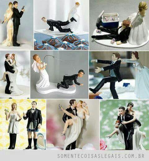 Muñecos de torta #novios #bodas