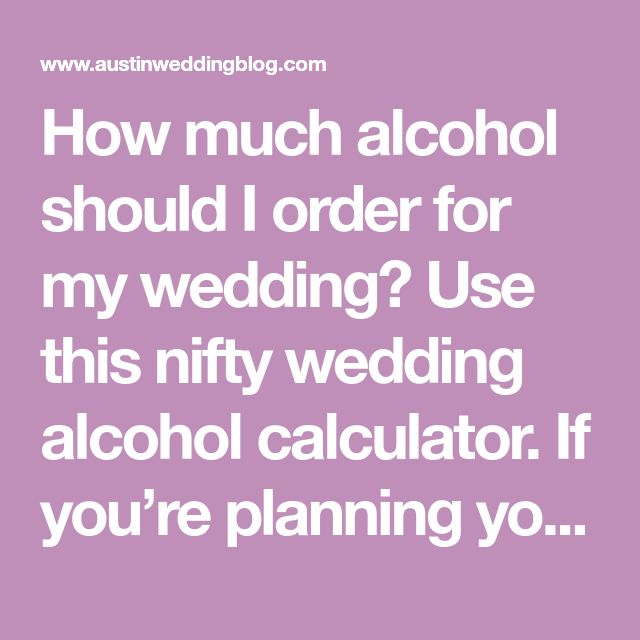 Use This Nifty Wedding Alcohol Calculator If You Re Planning Your Reception Evite Has A Free Estimated Drink That Can