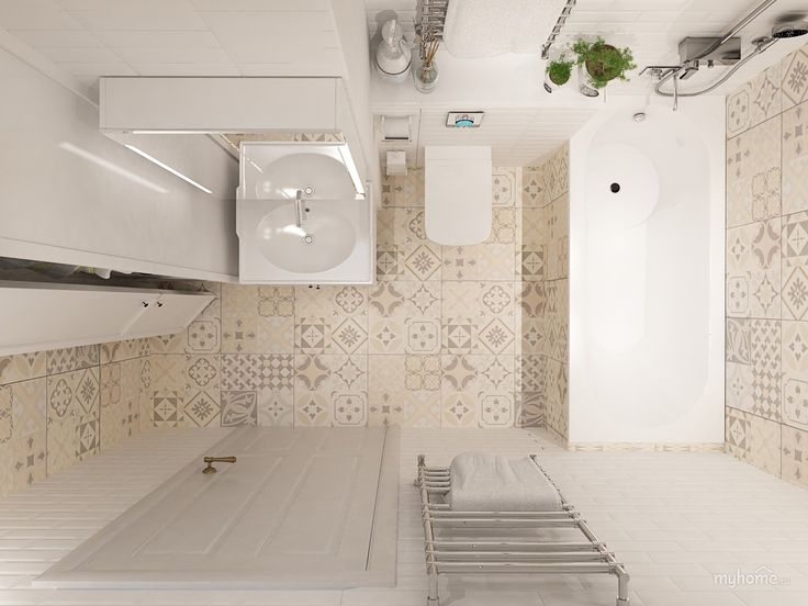 Дизайн интерьера ванной комнаты по ул. Липовый парк, пос. Коммунарка в г. Москве