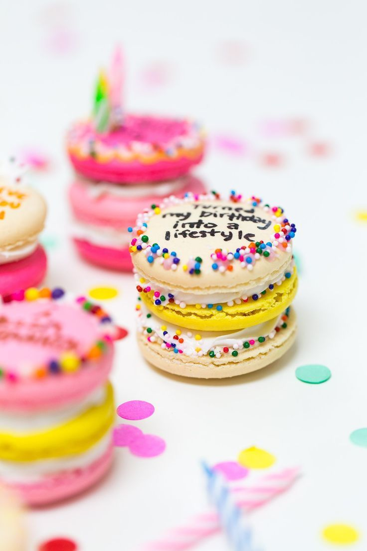 Drake on Cake Inspired Birthday Cake Macarons