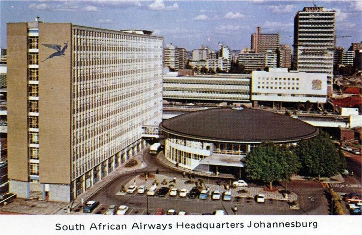 South African Airways Headquarters Johannesburg, 1972    www.vintageairliners.com