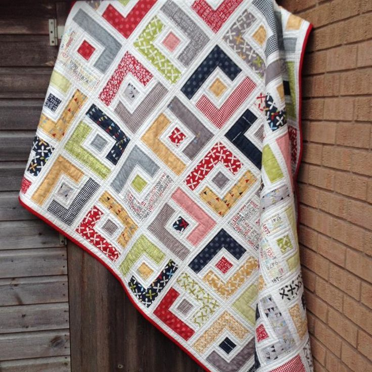 PDF Quilt Pattern for Jelly Rolls -  Marcie's Maze. Pattern gives instructions for 6 sizes: Baby quit, Crib Quilt, Toddler or Lap Quilt, Twin, Queen and King size