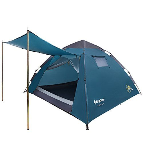 KingCamp Camping Family Monza 3 Light Outdoor Tent 3 Seasons Tent for 3 Persons – 210 x 210 x 130 cm 4.1kg – KT3095