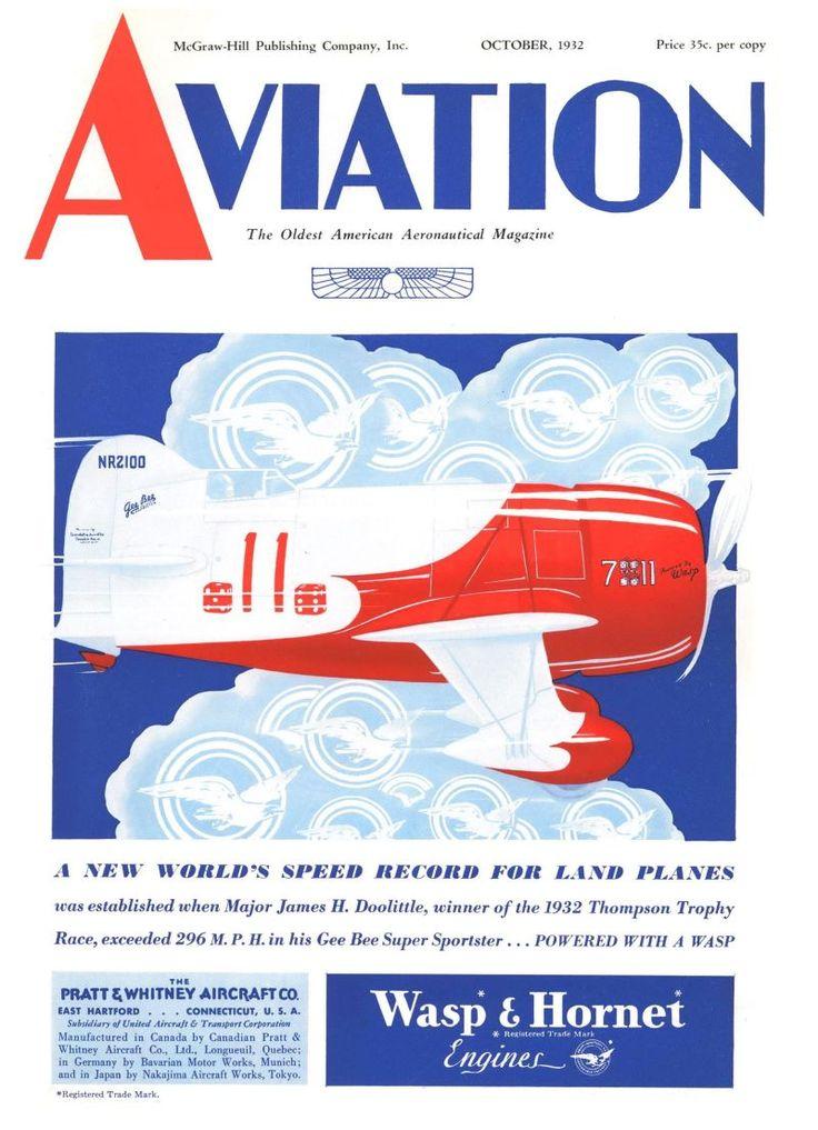 Gee Bee Super Sportster. Aviation, October 1, 1932.