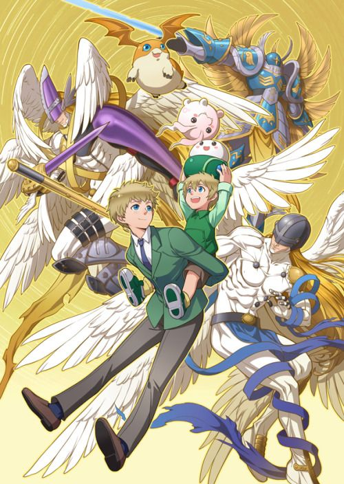 Digimon - T.K. with Patamon's Digivolutions by eclosion