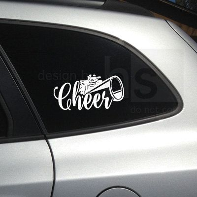 Window sticker car decal cheerleading