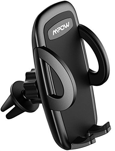 Mpow Car Phone Holder,Air Vent Phone Holder for Car with Adjustable Car Phone Mount for iPhone 7/7Plus/6s/6Plus/5S, Galaxy S5/S6/S7/S8, Google Nexus, LG, Huawei and More - Operation has never been easier! Effortless Installation Press button on back of unit to slide open and then take out mobile phone. Press the arms on both sides to clamp mobile phone again, simple of operation. Double Security The clamp also comes with 2 support feet to stabilize your device--- t...