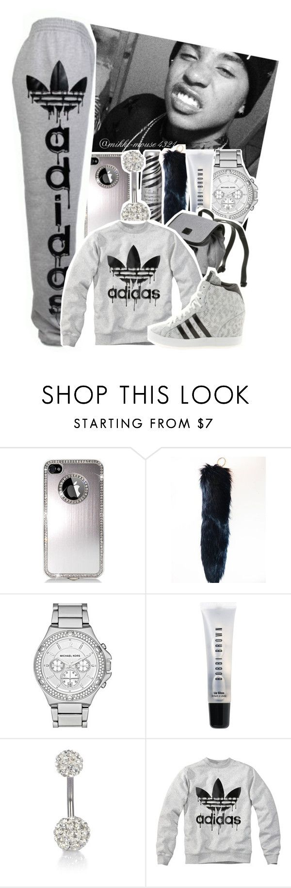 """""""Untitled #192"""" by mikki-mouse4321 ❤ liked on Polyvore featuring MICHAEL Michael Kors, adidas, Bobbi Brown Cosmetics, River Island and adidas Originals"""