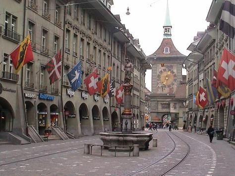 Actually go here, not just the train stop...good pretzels though..  Berne, Switzerland