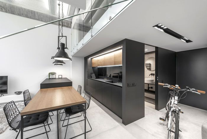 Functional And Stylish Two Level Apartment By Idwhite Industrial