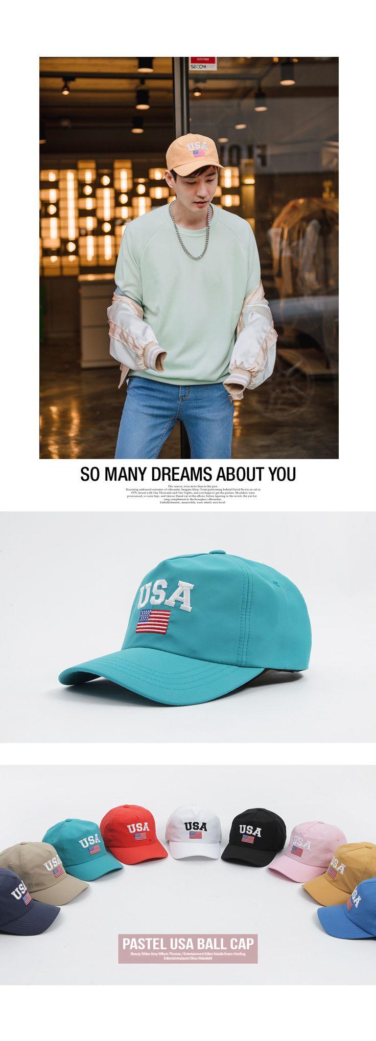 [[UJ.03] 파스텔 USA 성조기 볼캡] 남자패션 남친푹 볼캡 남자볼캡