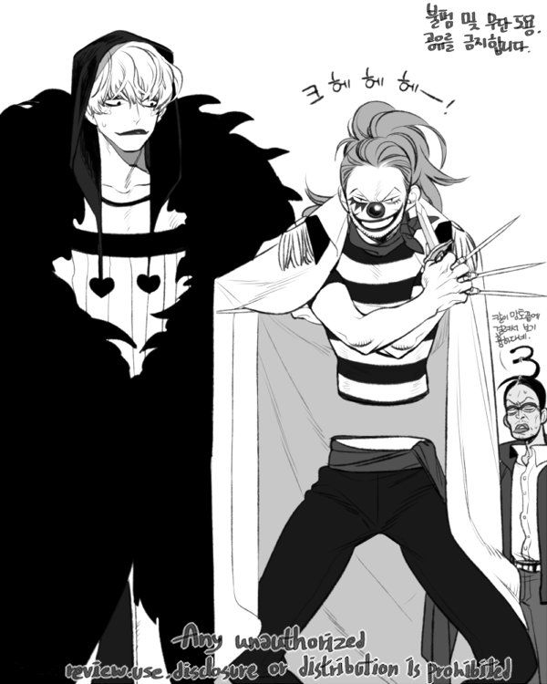 One Piece, Corazon, Buggy