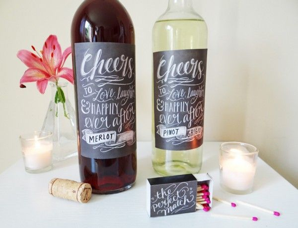 DIY Wedding Printable Rustic Chalk Art Labels