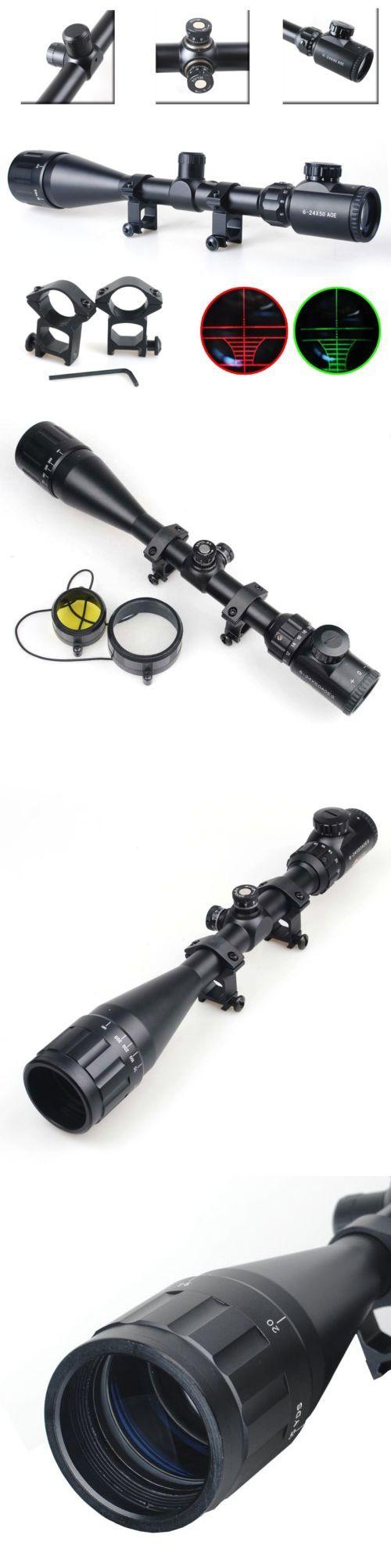 Rifle Scopes 31714: Cvlife 6-24X50 Aoe Rifle Scope Red And Green Mil-Dot Illuminated Optics Hunting -> BUY IT NOW ONLY: $38.99 on eBay!