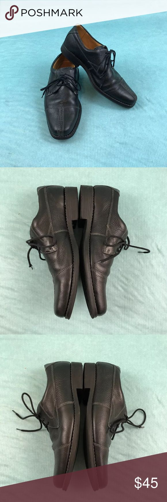 Sandro moscoloni black leather split toe shoe 9.5 One lace tip is frayed some markings on shoes. Overall good condition. Please see pics Sandro Moscoloni Shoes Oxfords & Derbys