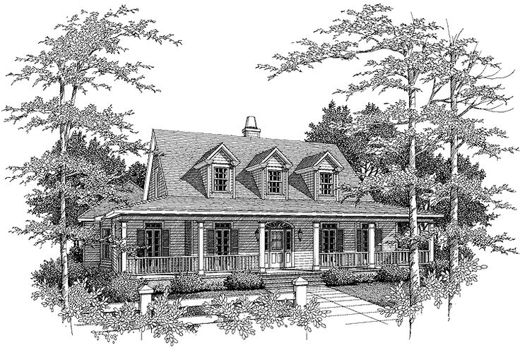 Eplans low country house plan french country style home for Courtyard entry house plans