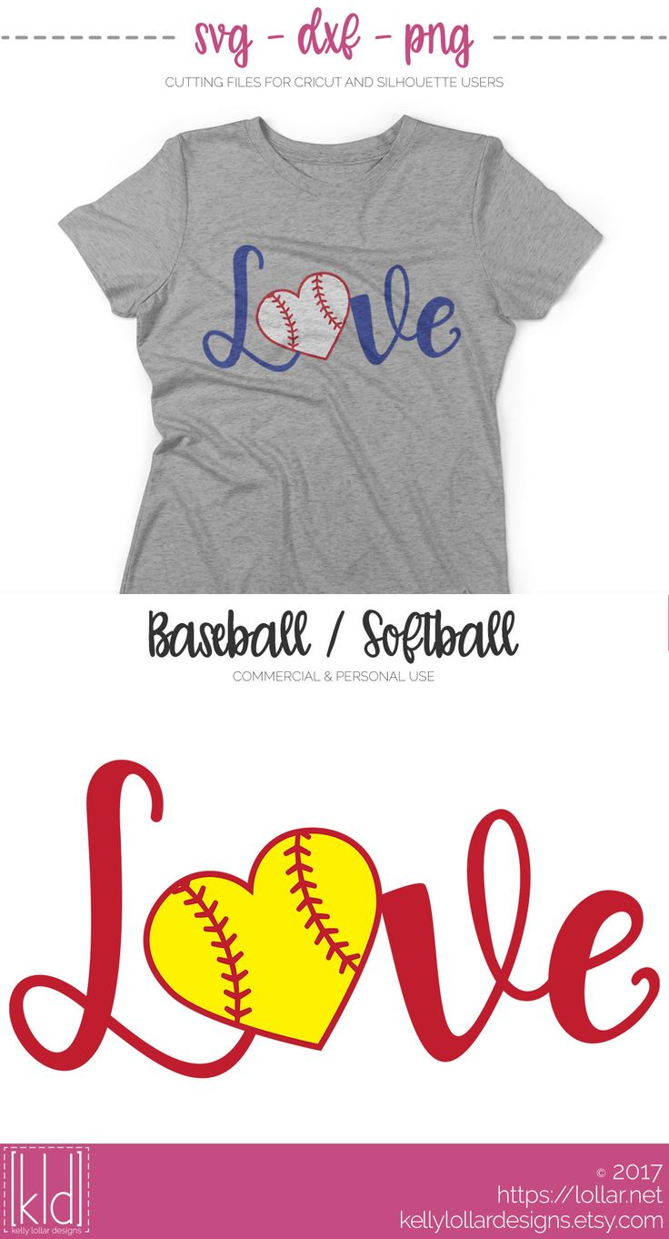 baseball softball love svg file free for personal use by kelly lollar designs