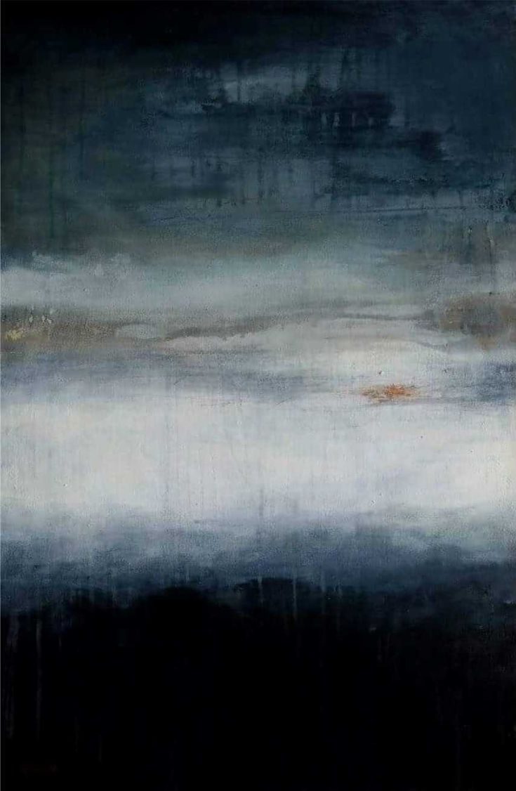 In Your Atmosphere - MELODY FRENCH abstract, contemporary, layered, abstract landscape, modern art  - sold -