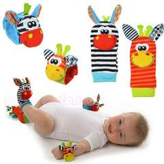 $15 for a set of Baby Wrist Rattle and Sock Rattle | DrGrab