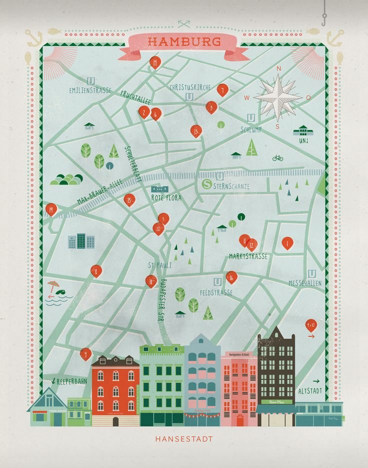 Illustration Hamburg