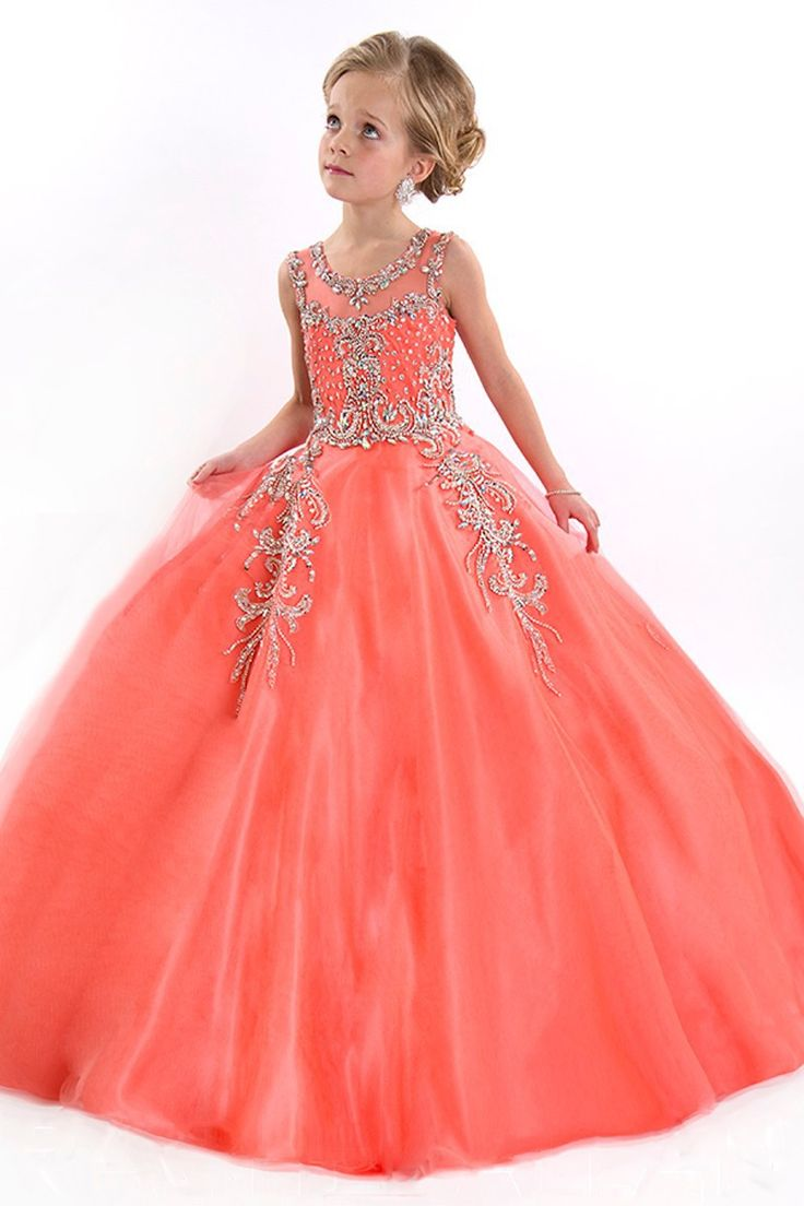 Find More Flower Girl Dresses Information about 2016 Ball Gown Luxury Crystal…