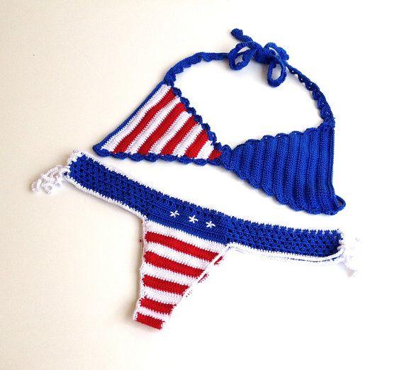 American flag bikini women swimsuit bikini top by senoAccessory