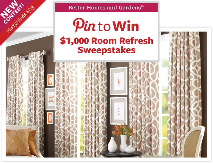 Pin to Win - Room Refresh SweepstakesLiving Room, Bhg Walmart