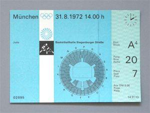 Otl Aicher | Munich Olympics | Judo ticket