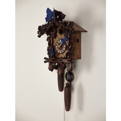 Blue Butterfly Cuckoo Clock