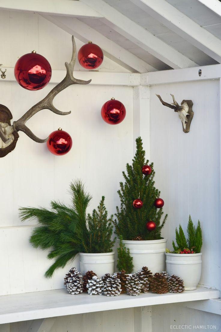 die besten 25 weihnachtsdeko f r draussen ideen auf pinterest basteln weihnachten holzscheit. Black Bedroom Furniture Sets. Home Design Ideas