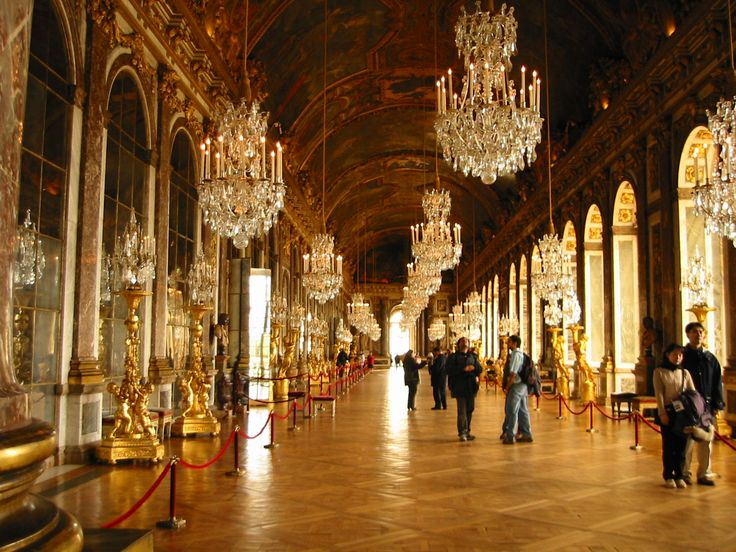 Maybe the birthplace of all modern drama, Versailles' Hall of Mirrors.
