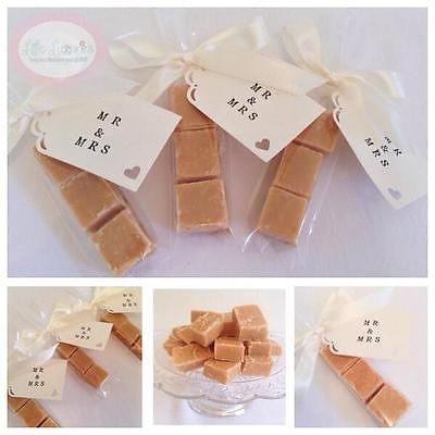 Homemade Scottish Tablet Wedding Favour (Favor) Bags