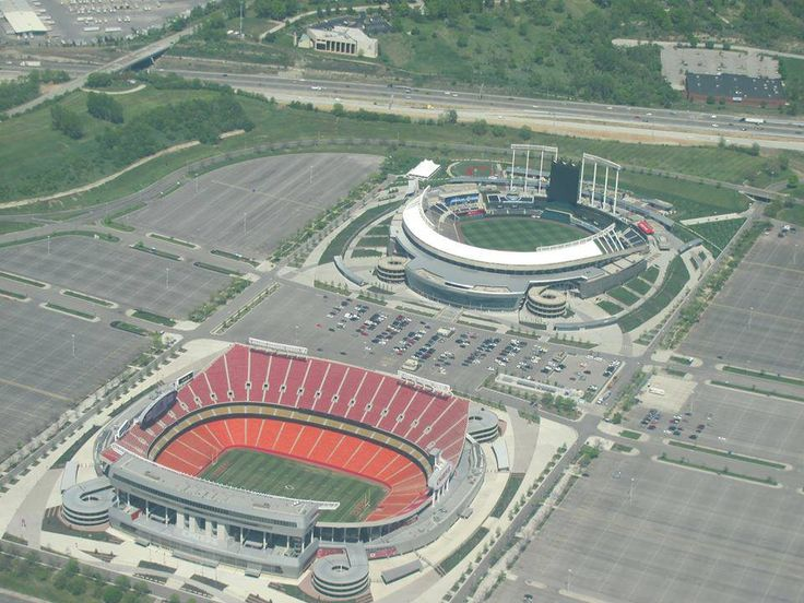 Kansas City ROYALS & CHIEFS STADIUMS side by side
