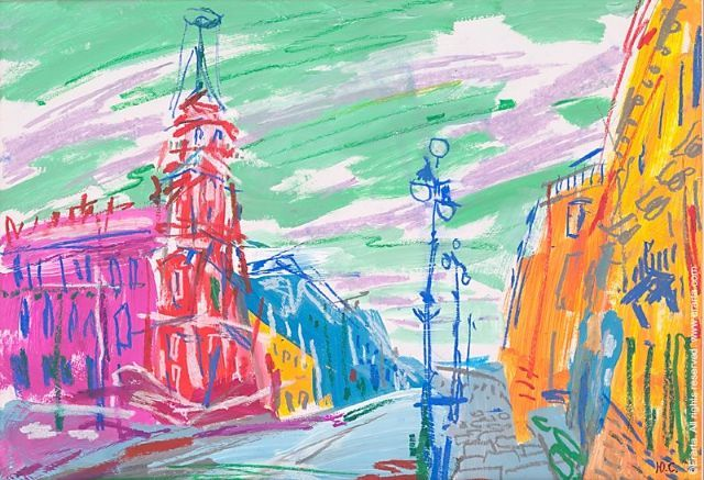 """""""Невский проспект"""", Юрий Сычев. #art #painting #петербург #живопись. http://shop.erarta.com/ru/shop/catalogue/pictures/detail/Y081118001/"""