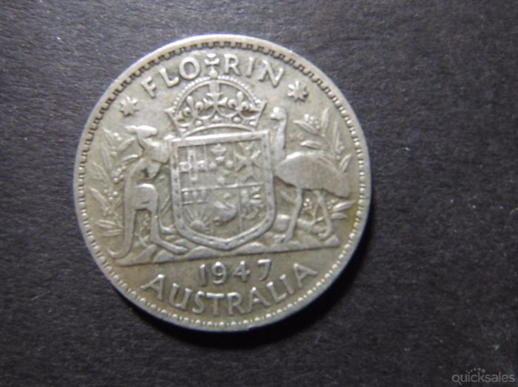 Florin  1947, KGVI, good condition by jones101 - $18.00